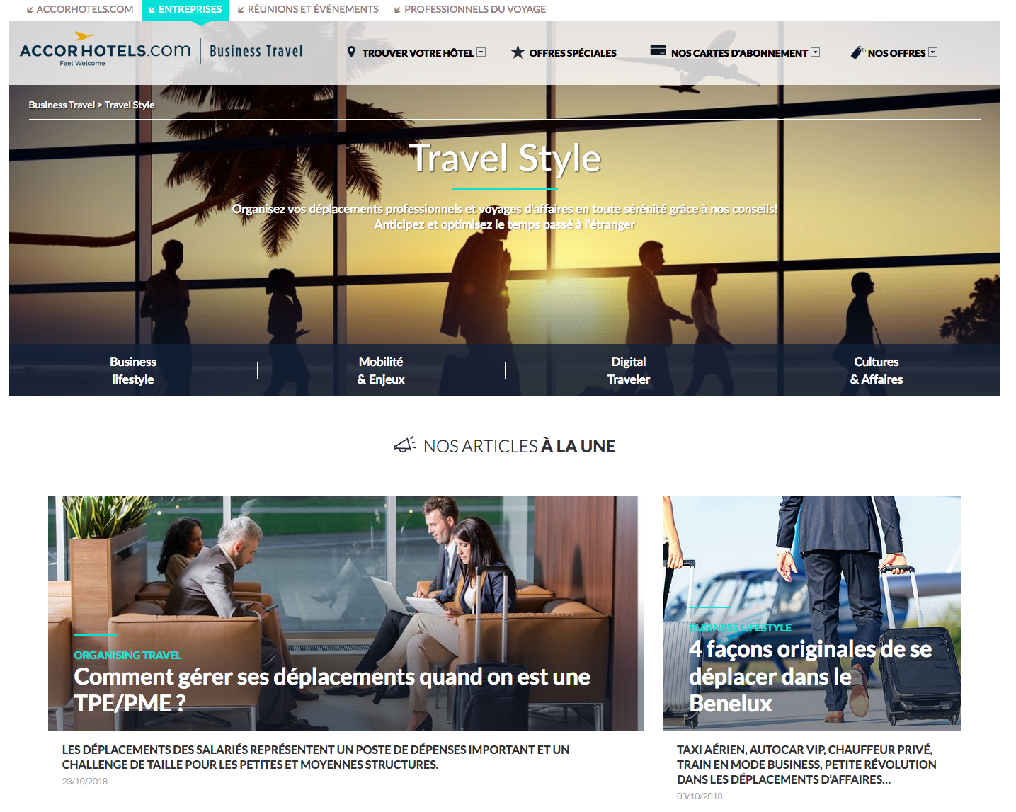 blog voyages affaires Accorhotels